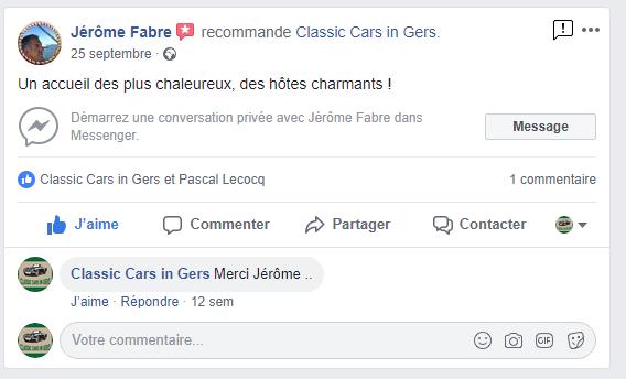 Avis Facebook Classic Cars in Gers 2