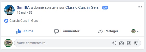 Avis Facebook Classic Cars in Gers 3