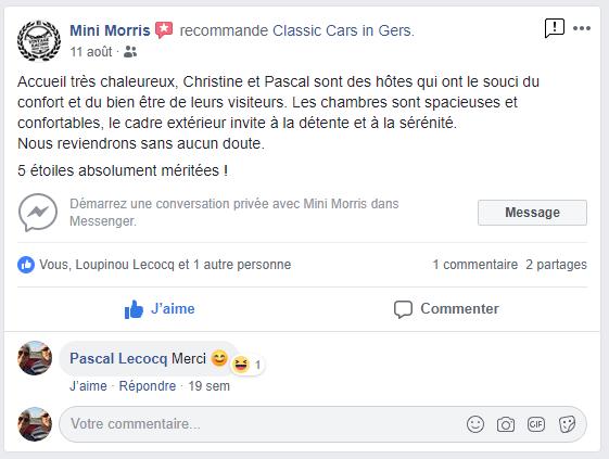 Avis Facebook Classic Cars in Gers 4